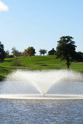 Otterbine's Industrial Aerating Fountains in golf courses