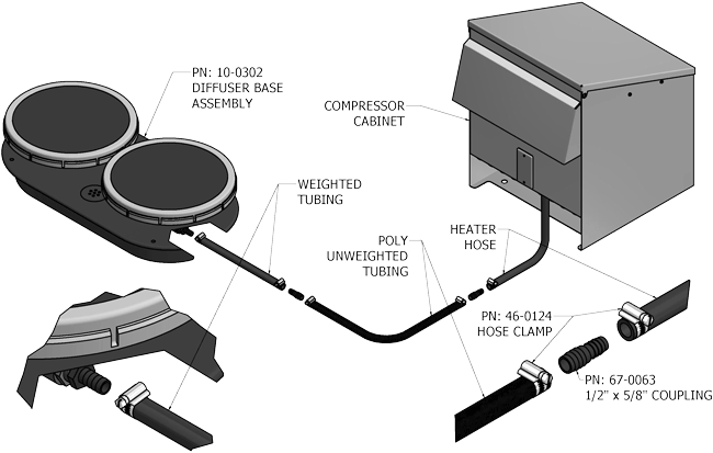 Installation diagram of the unit
