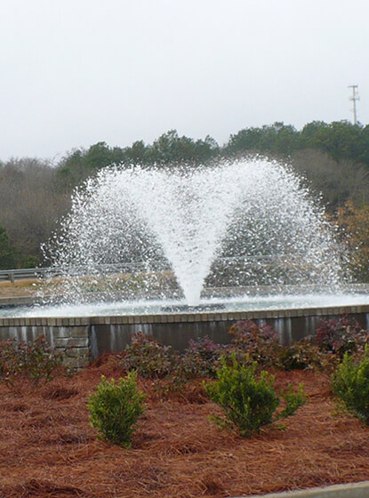 One of Otterbine's Commercial Aerating Fountains