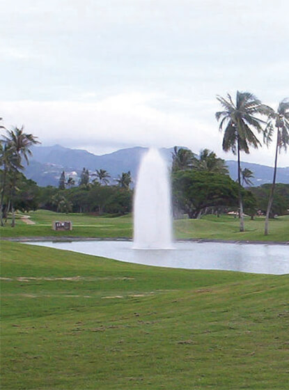 Otterbine's Polaris fountain at the Navy Marine Golf Course