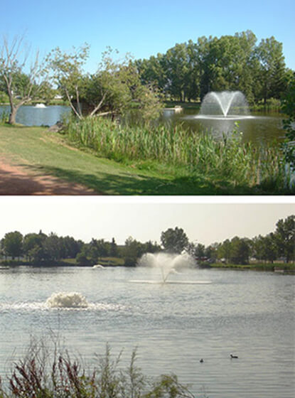 Otterbine's Industrial Aerating Fountains