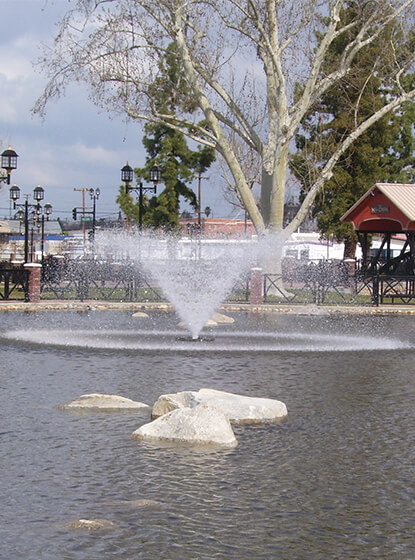 One of Otterbine's Aerating Fountains at the Mill Creek Park