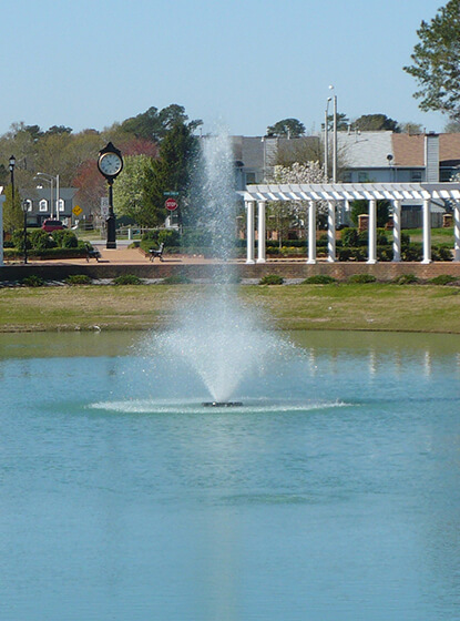 One of Otterbine's Aerating Fountains at Terry Peterson Residential