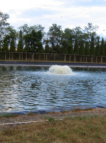 One of Otterbine's Industrial Aerating Fountains