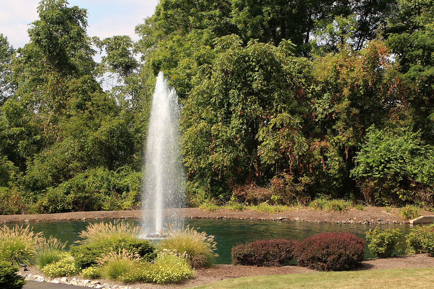 One of Otterbine's Comet Aerating Fountains in a park