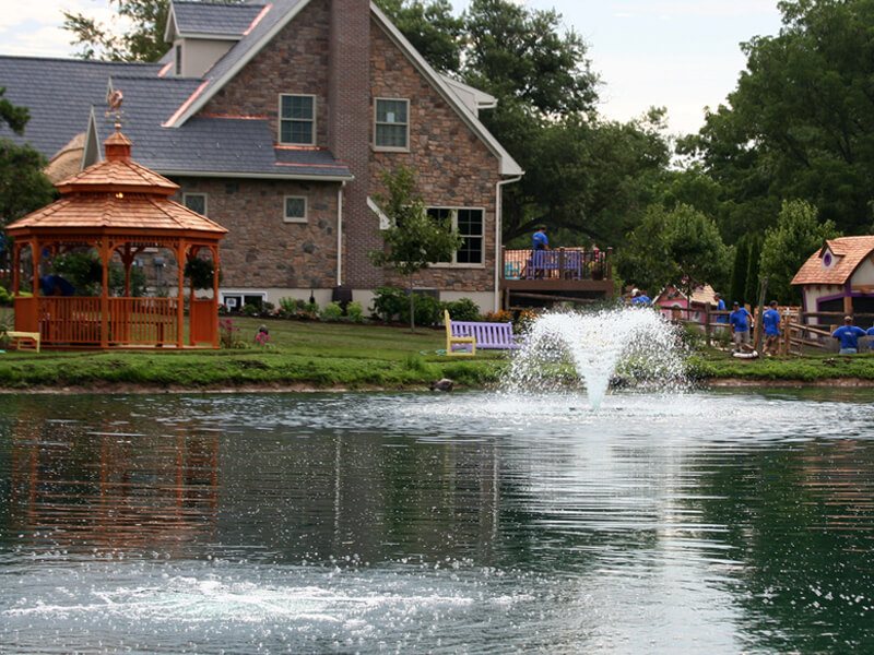 An Otterbine Aerating Fountain on ABC's Extreme Makeover Home Edition