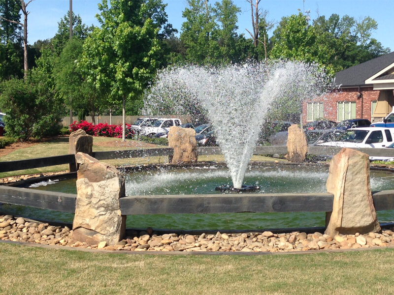 An Otterbine Gemini Aerating Fountain at a Medical Complex