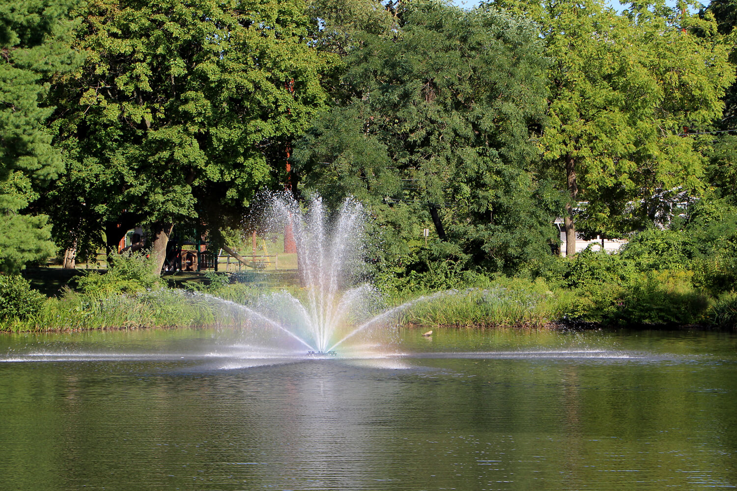 One of Otterbine's Genesis Aerating Fountains at a park