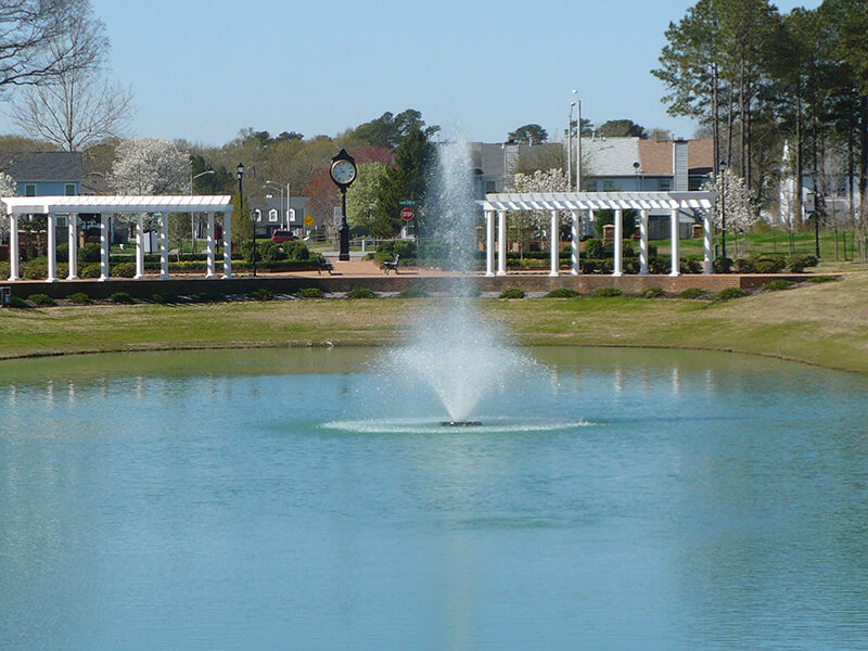 The Otterbine TriStar Aerating Fountain at Terry Peterson Residential