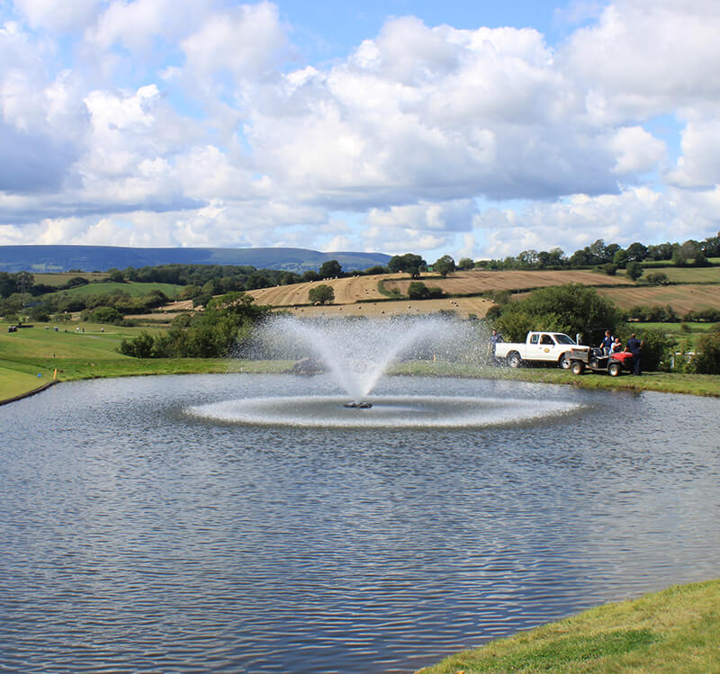 One of Otterbine's Aerating Fountains at Celtic Manor