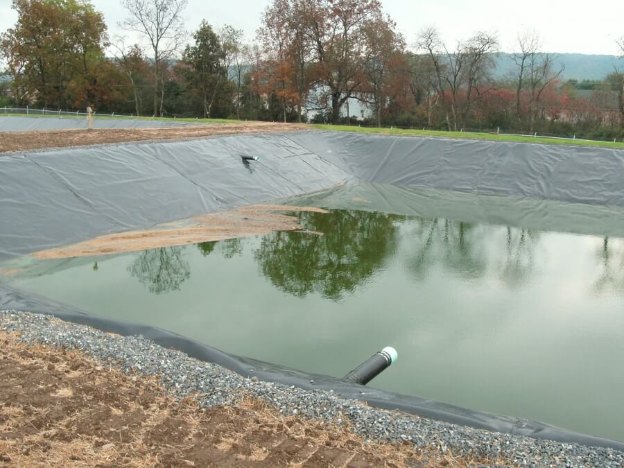 A Pleasant Valley School District wastewater lagoon