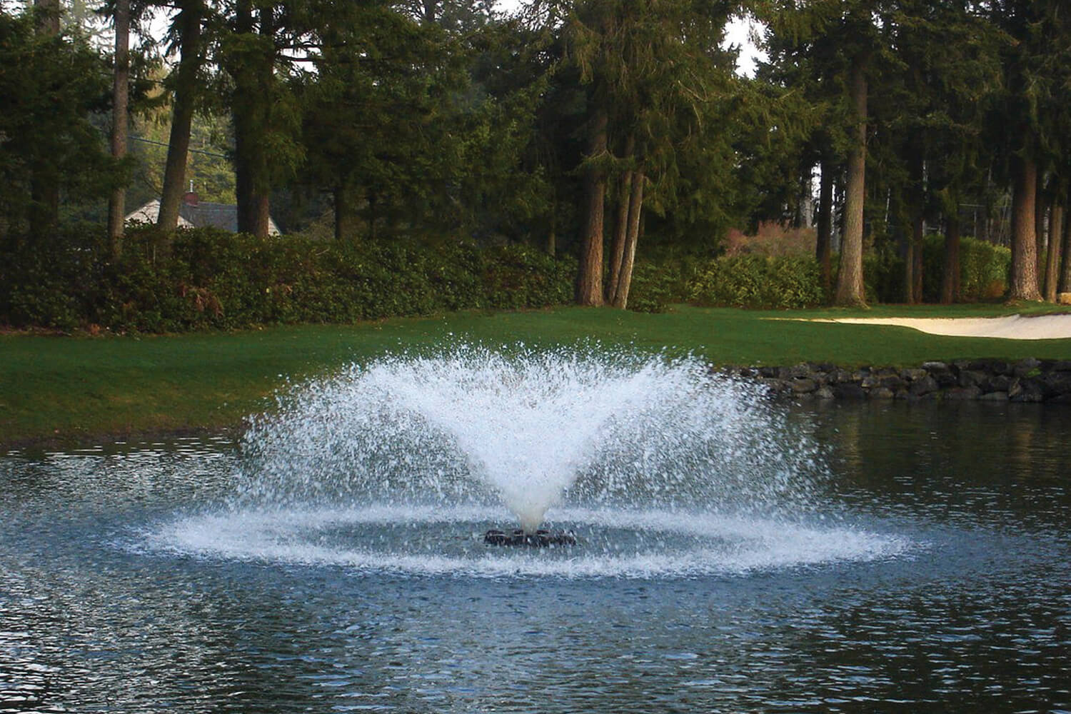 One of Otterbine's Saturn Aerating Fountains
