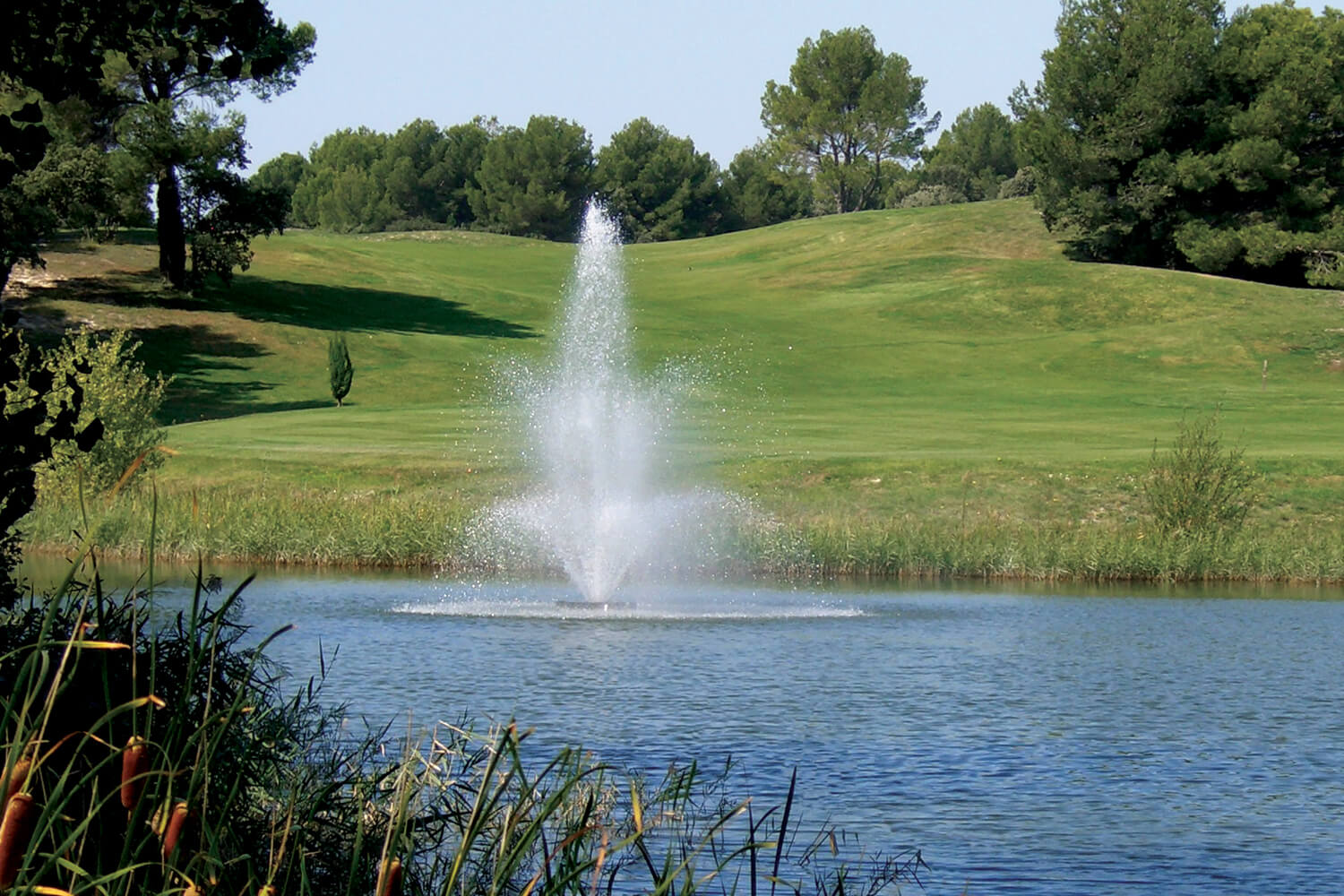 An Otterbine Tristar Three-Tiered Aerating Fountain