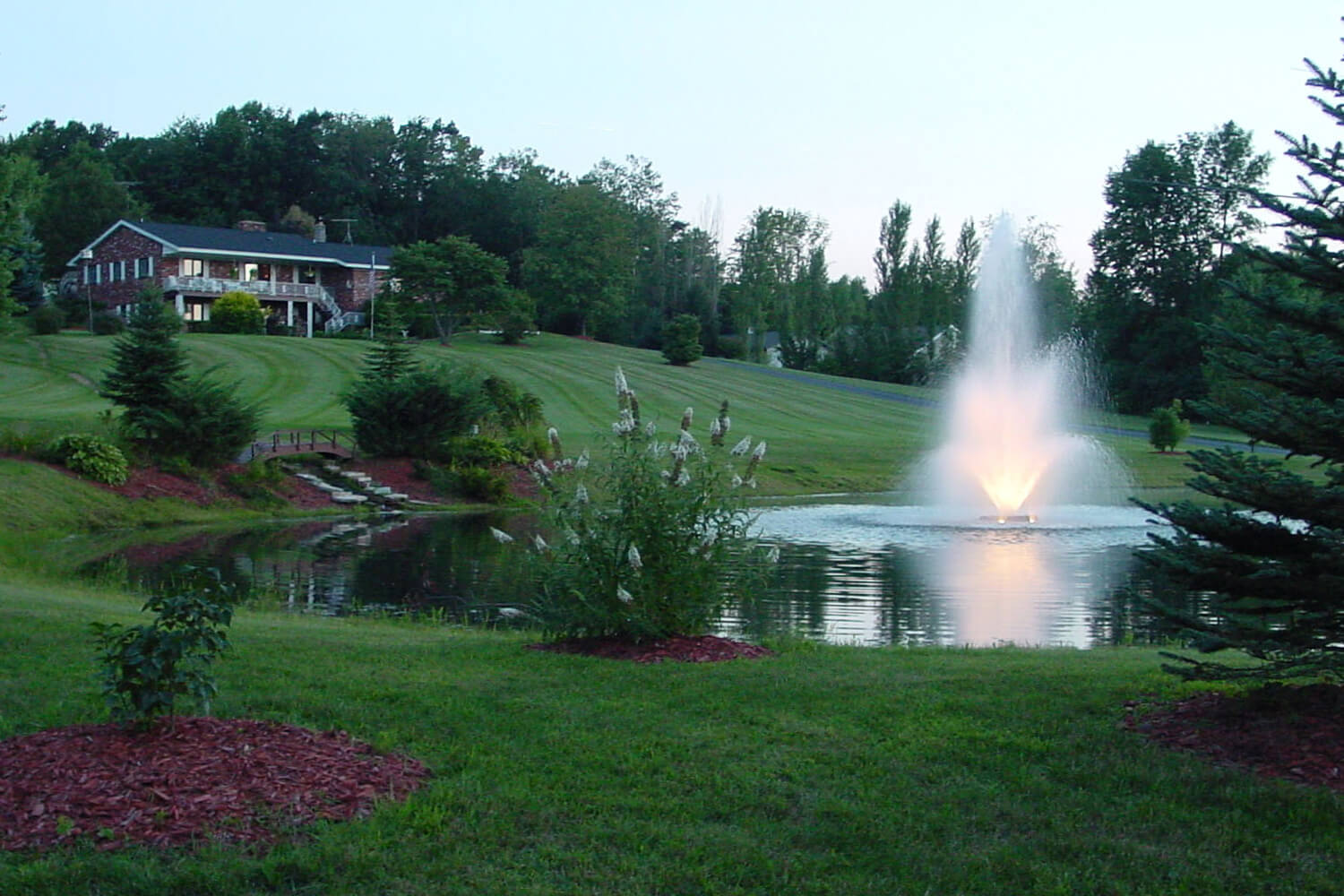 One of Otterbine's Tristar Aerating Fountains