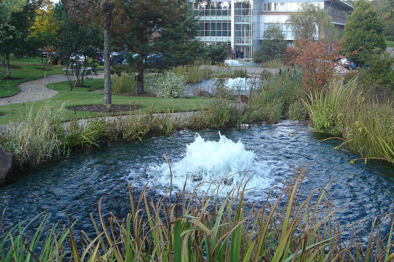 One of Otterbine's Industrial Pond Aerators