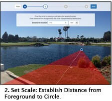 Set scale - Establish distance from Foreground to Circle