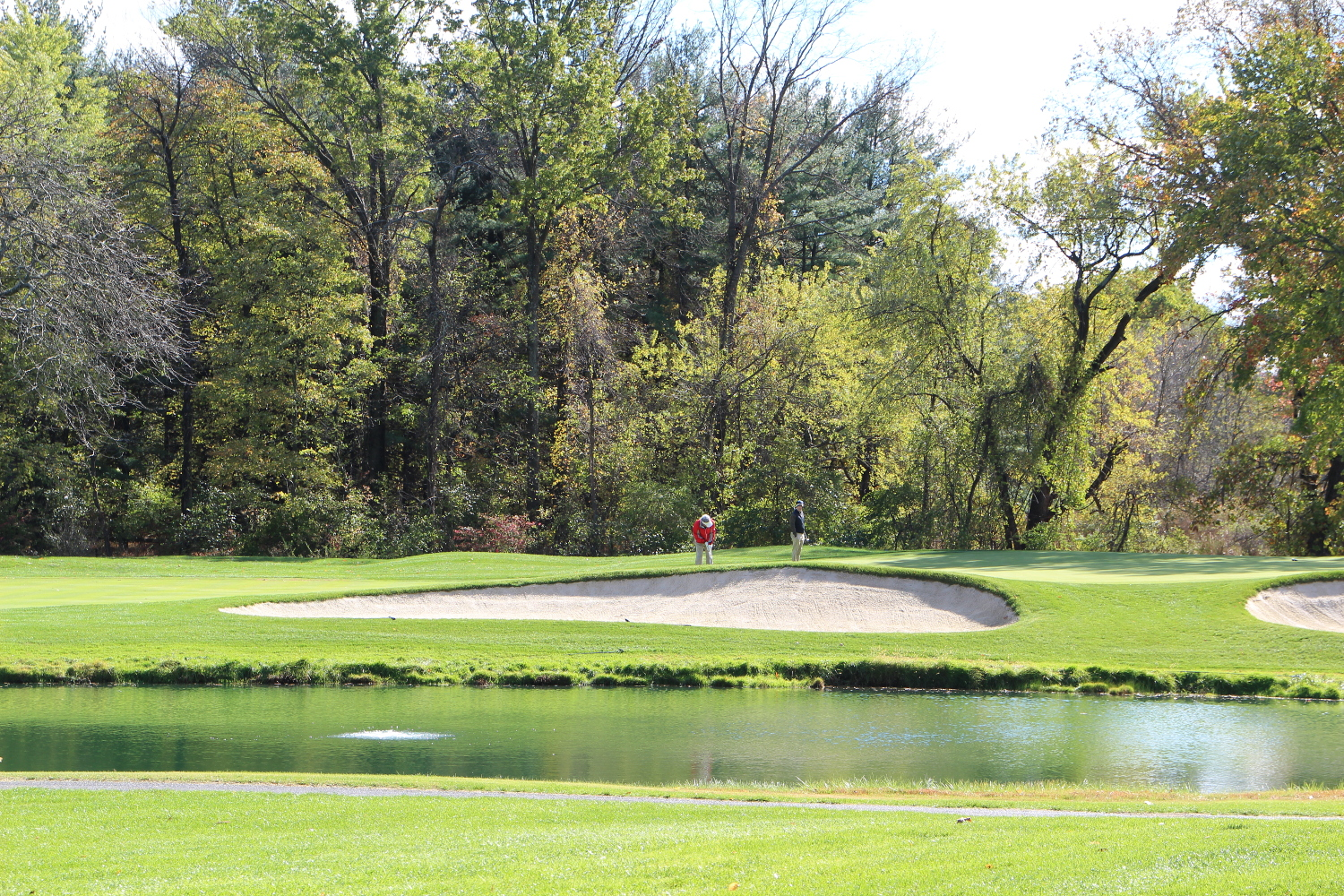 One of Otterbine's subsurface industrial aerators at a golf course