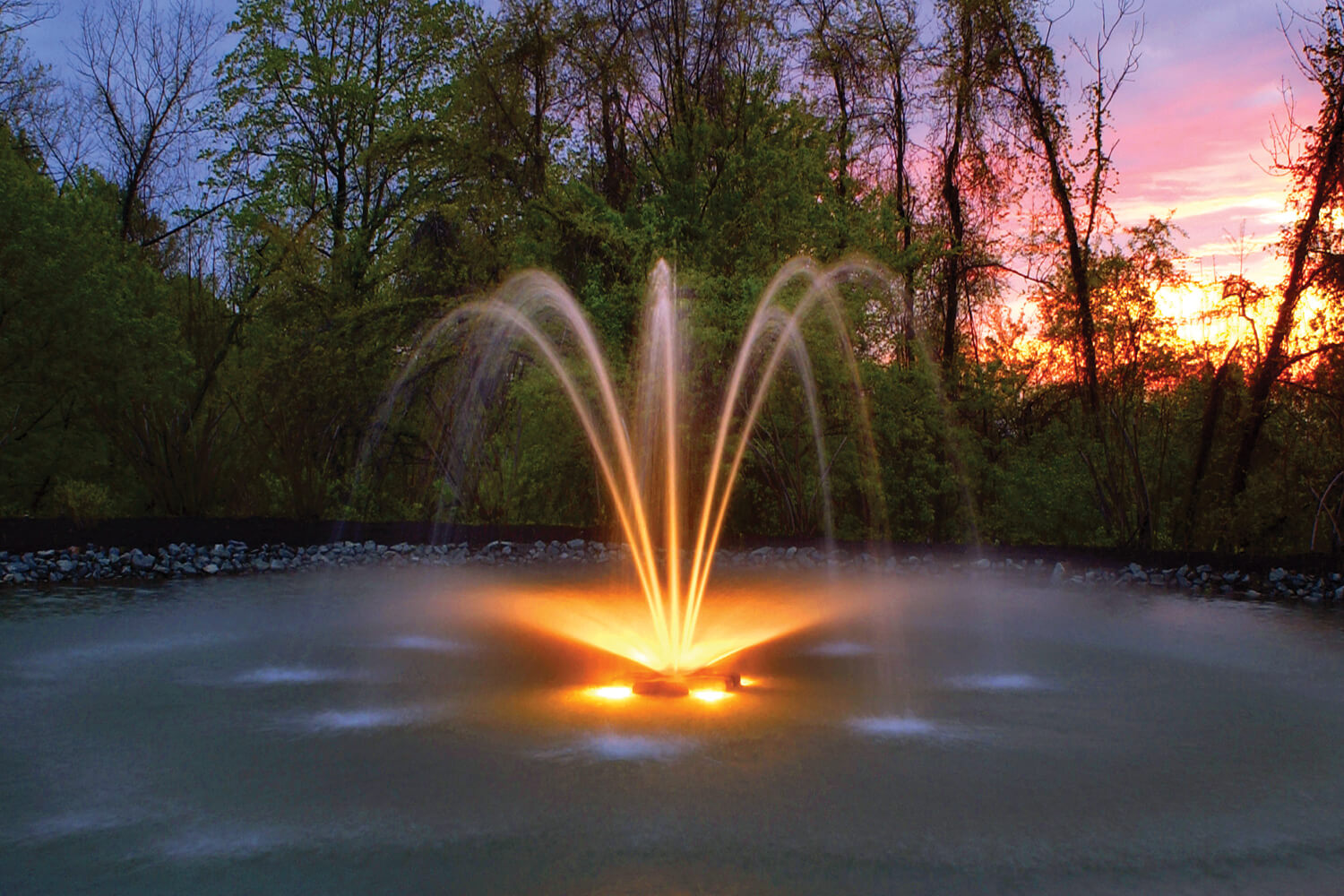 Otterbine's Fountain Glo™ LED Low Voltage Lighting