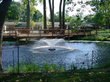 An Otterbine Aerating Fountain in a park