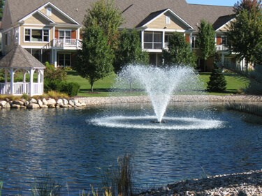 One of Otterbine's Aerating Fountains in a residential area